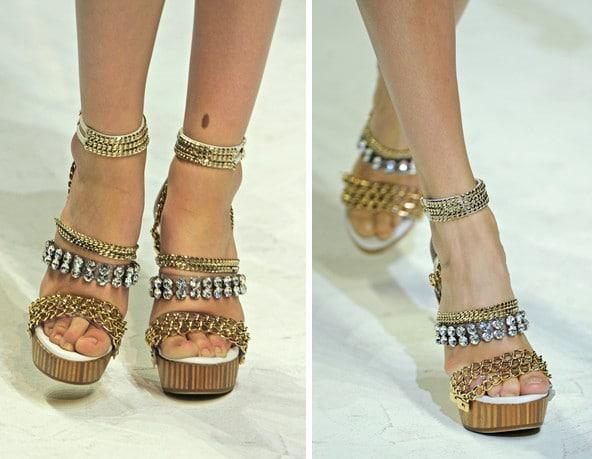 Les chaussures bling bling Dolce & Gabbana printemps/été 2011