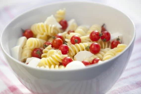 Salade de pâtes tomates ricotta