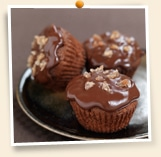 Cupcakes chocolat marron glacé