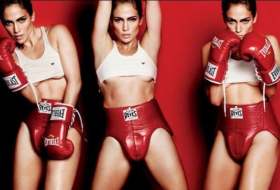 Jennifer Lopez en boxeuse provocante pour une séance photo