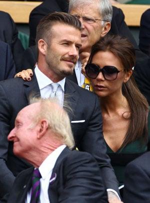 David et Victoria Beckham à Wimbledon pour la finale hommes