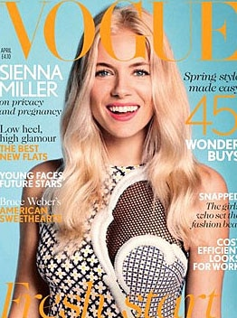 Sienna Miller parle de sa grossesse avec le magazine Vogue