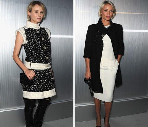 Diane Kruger et Cameron Diaz, deux superbes blondes au défilé Chanel