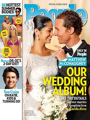 Découvrez la première photo du mariage de Matthew McConaughey et Camila Alves