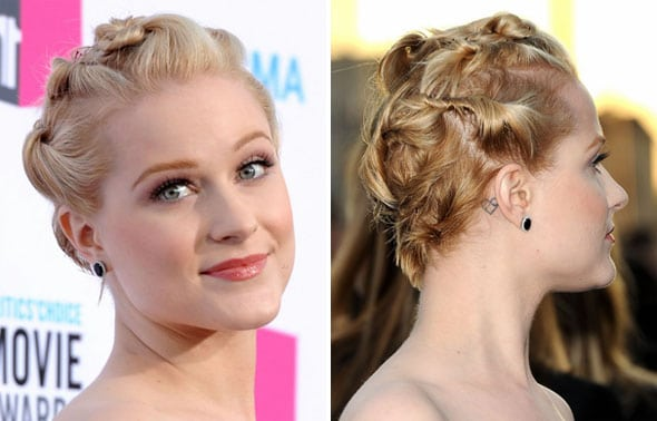 La coiffure de Evan Rachel Wood aux Critics' Choice Awards 2012