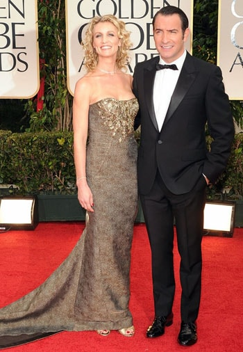 Jean Dujardin et Alexandra Lamy aux Golden Globes Awards 2012