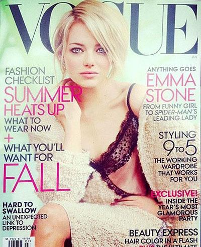 Emma Stone sublime en couverture de Vogue