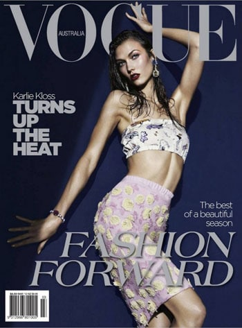 Karlie Kloss en une du Vogue Australia mars 2012