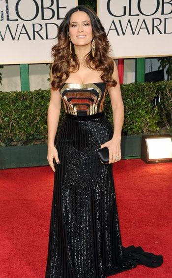Salma Hayek aux Golden Globes Awards 2012