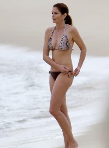 Cindy Crawford en bikini à Mexico