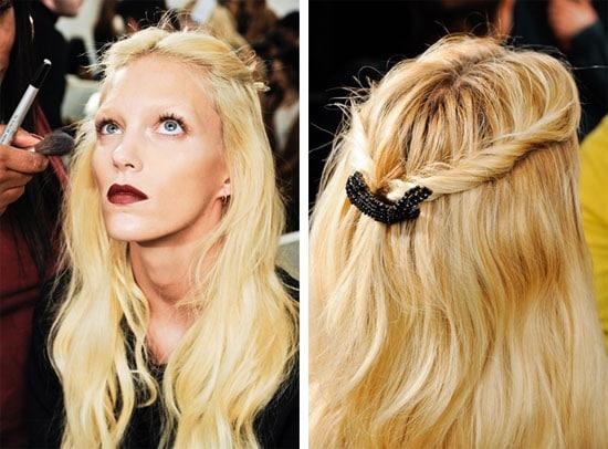 Idée coiffure : Les mèches enroulées du défilé Gucci automne 2012