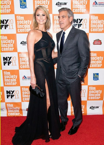 George Clooney et Stacy Keibler à la première de The Descendants