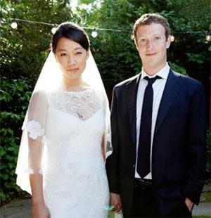 Le créateur de Facebook Mark Zuckerberg s'est marié