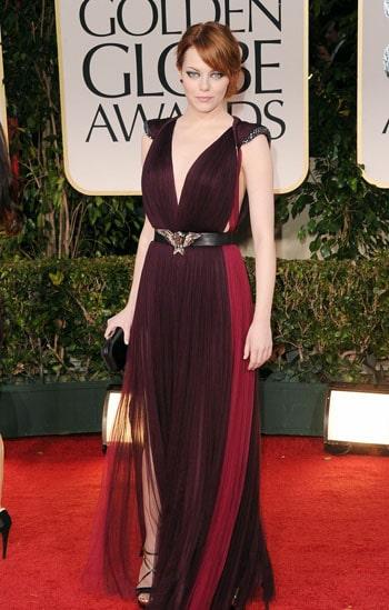 Emma Stone aux Golden Globes Awards 2012