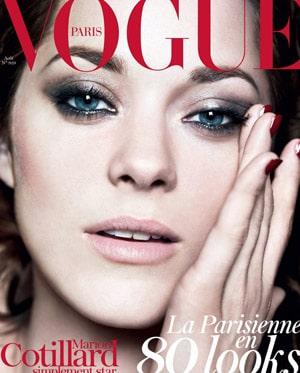 Marion Cotillars fait la couverture du Vogue Paris d'août 2012