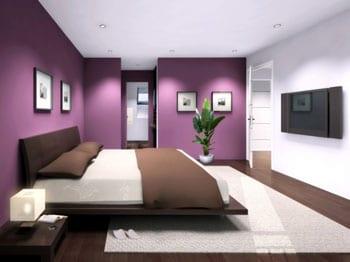 Le violet s 39 affiche comme la couleur d co tendance de 2012 - Chambre a coucher mauve et gris ...