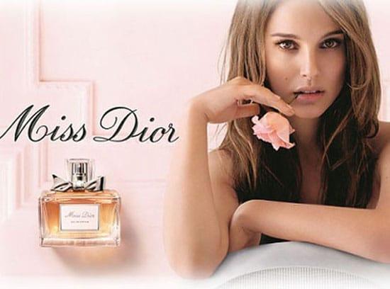 Natalie Portman visage du parfum Miss Dior eau fraîche