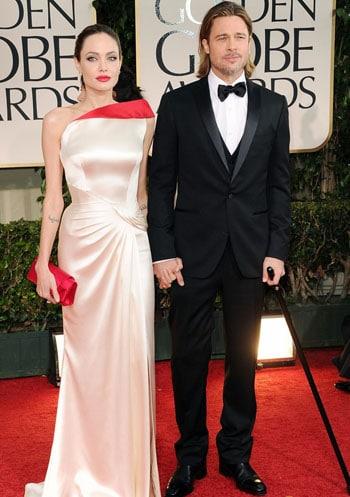 Angelina Jolie et Brad Pitt aux Golden Globes Awards 2012