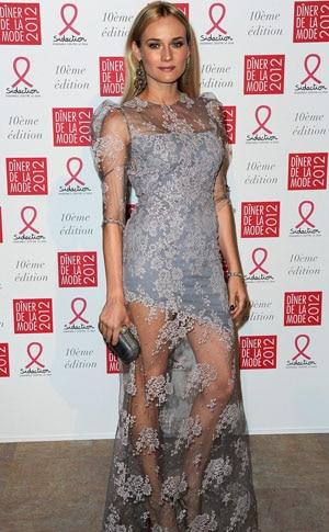 Diane Kruger élégante et sexy au diner de gala du Sidaction