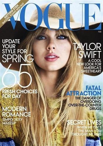 Taylor Swift s'affiche pour la première fois en couverture de Vogue