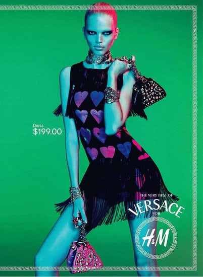 Quatre nouvelles images de la campagne Versace pour H&M