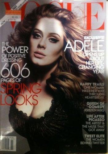 Adele fait la couverture du Vogue de mars