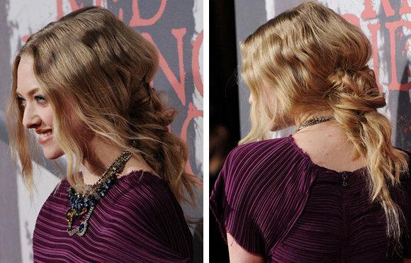 Amanda Seyfried coiffure