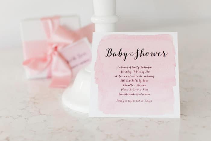 Baby shower rose et blanche 2
