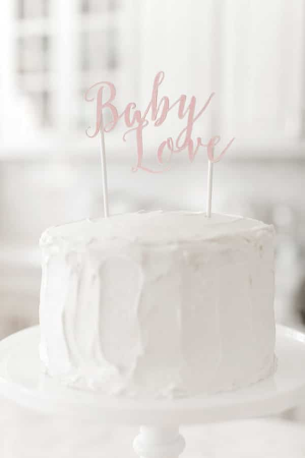 Baby shower rose et blanche 3