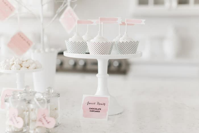 Baby shower rose et blanche 4