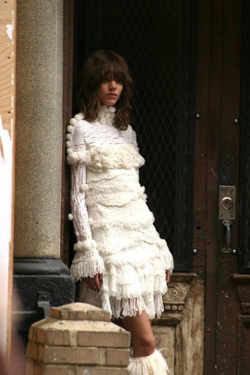 La robe pull en laine Chanel (campagne automne/hiver 2010 2011)