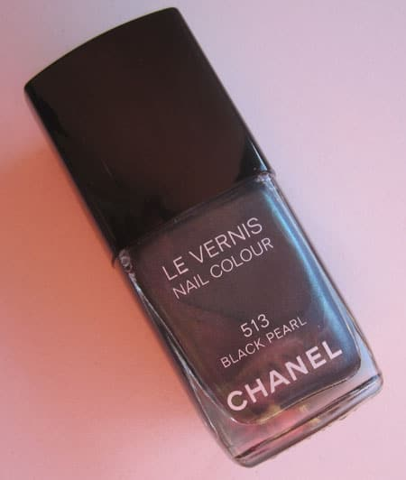 "Vernis ""Black Pearl"" Chanel swatch, test, photos"