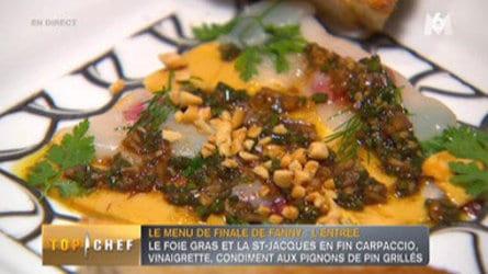 Carpaccio de coquilles Saint Jacques et foie gras