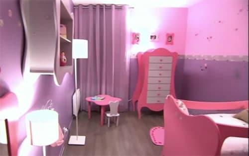 D co de princesse mauve et rose pour chambre de fille Peinture pour chambre fille