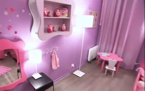 D co de princesse mauve et rose pour chambre de fille - Peinture pour chambre de fille ...