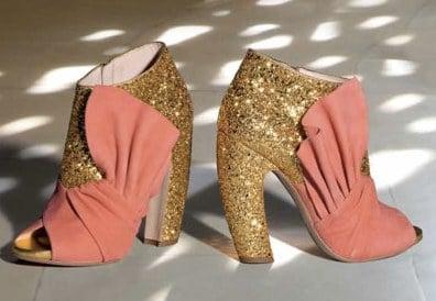 Les bottines dorées et corail de Miu Miu