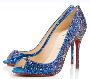 Chaussures Sexy bleues Louboutin