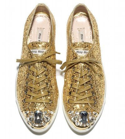Miu Miu lance des chaussures pailletées pour sa collection automne 2011