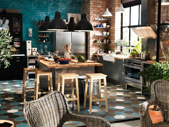 Les nouvelles cuisines ikea id es et inspirations - Cuisine melange ancien moderne ...