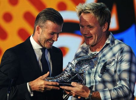David Beckham et Gordon Ramsay