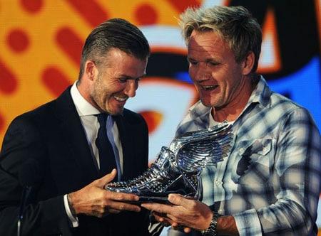 David Beckham et Gordon Ramsay