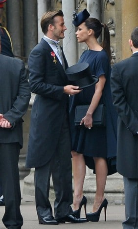 Le look des Beckham au mariage de Kate Middleton et William
