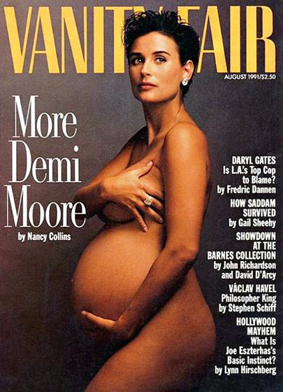 Ces stars qui ont posé nues et enceintes en unes de magazines