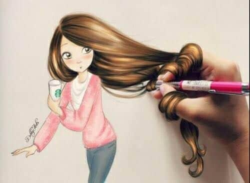 Dessins cheveux 8