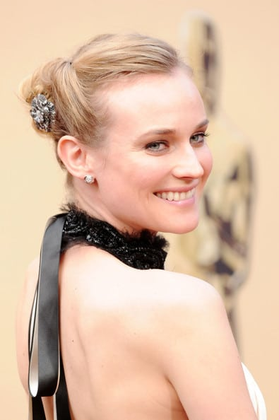 La tresse naturelle de Diane Kruger à la soirée Green Auction