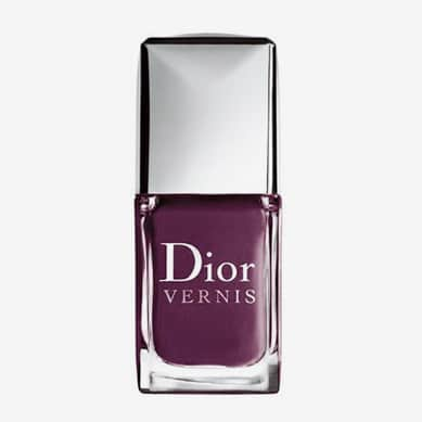 "Vernis Dior ""Black plum"" 981 swatch, test, photos"