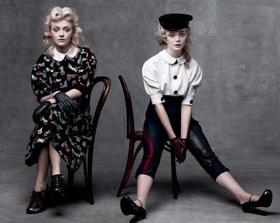 Elle et Dakota Fanning Vogue US