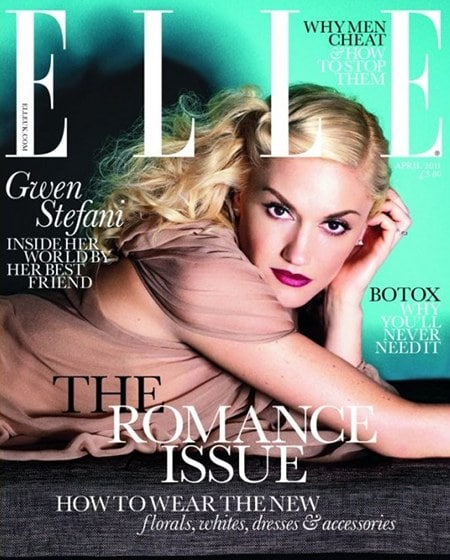 Gwen Stefani Elle UK avril 2011 couverture