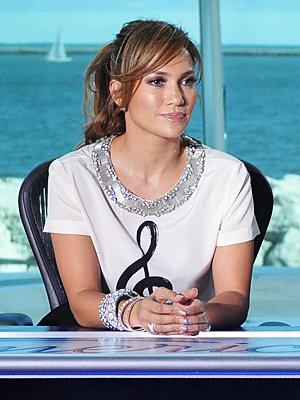 Jennifer Lopez American Idol coiffures