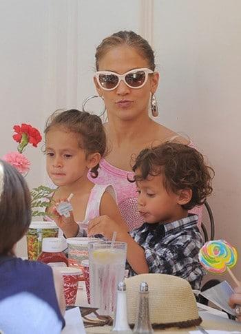 Jennifer Lopez jumeaux Max & Emme